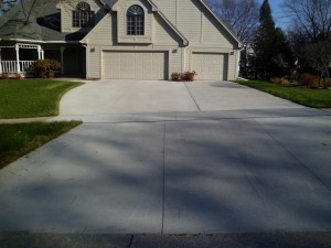 Driveway picture of Don Schoen's house when completed.