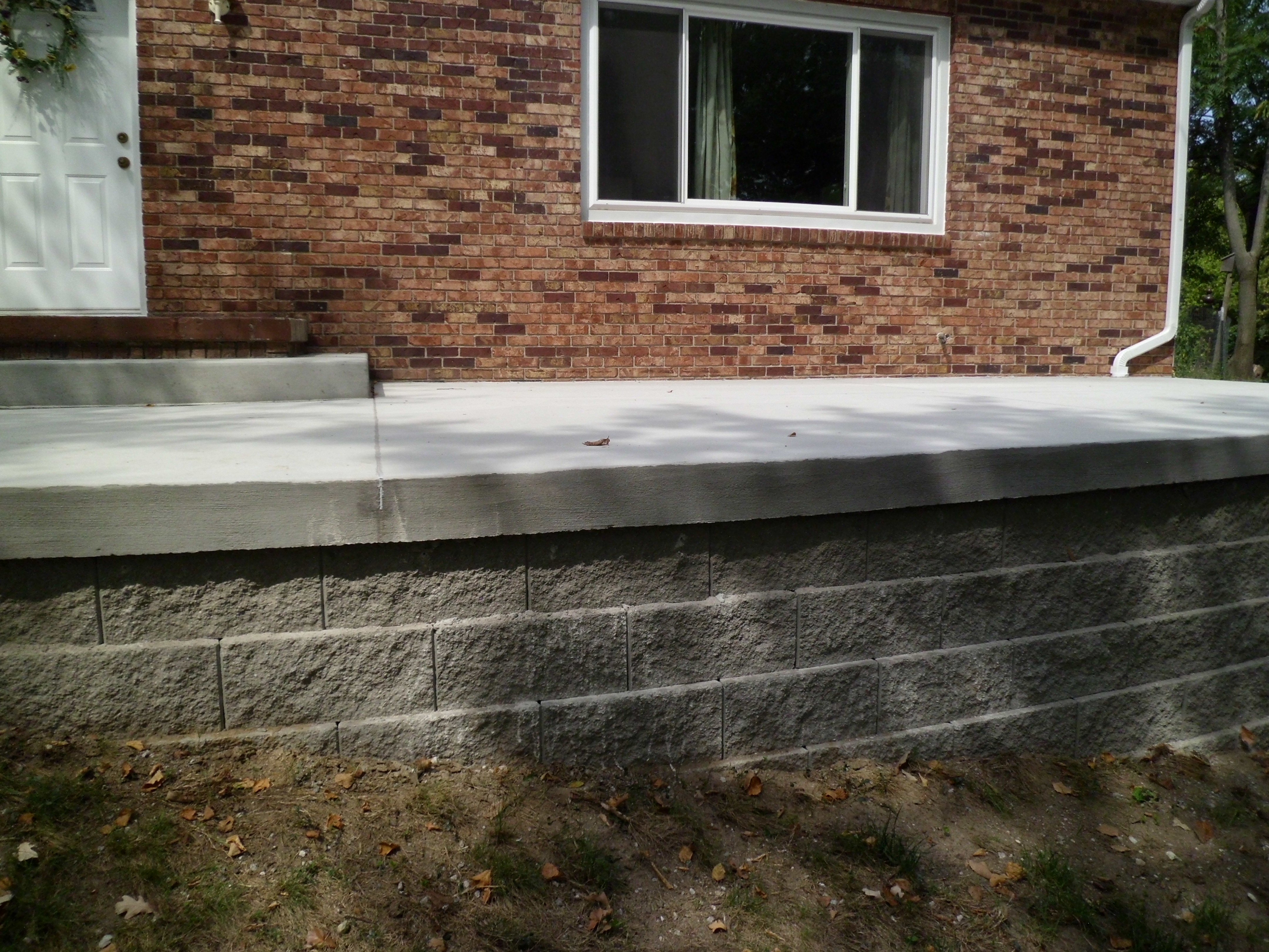 Retaining Wall Block Des Moines : Before after pictures terry s quality concrete